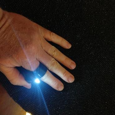 Shepard's Tactical Flashlight EDC Finger Ring Search-Light