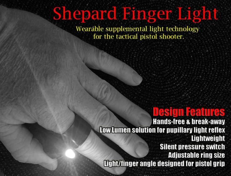 Tactical Finger Ring Search Light flashlight